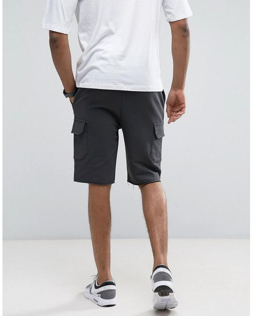 ... ASOS | Tall Skinny Jersey Shorts With Cargo Pockets In Washed Black for  Men | Lyst ...