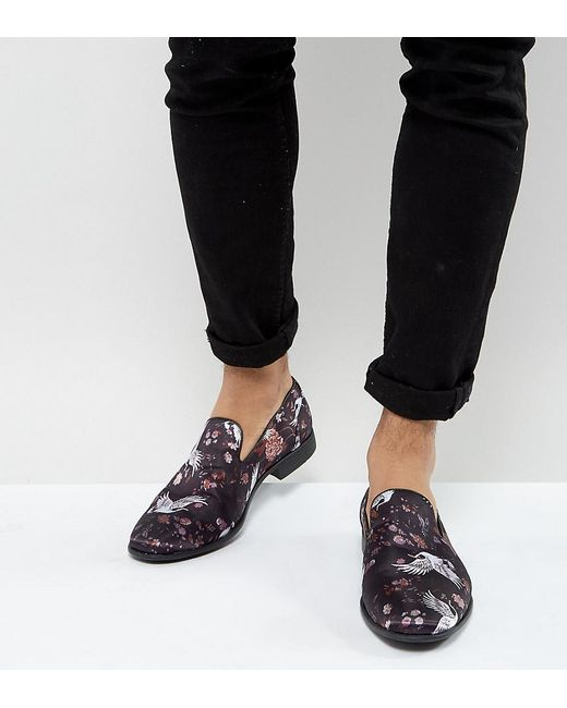 Loafers In Black And White Checkerboard Print With Creeper Sole - Black Asos