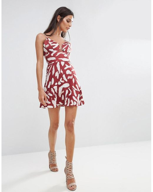 ... Finders Keepers - Red Finders Mercurial Print Mini Dress - Lyst