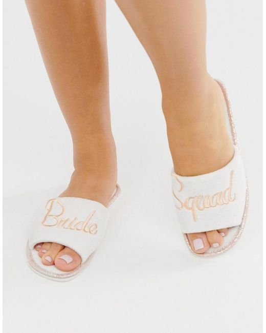 Truffle Collection - White Bride Squad Slippers - Lyst