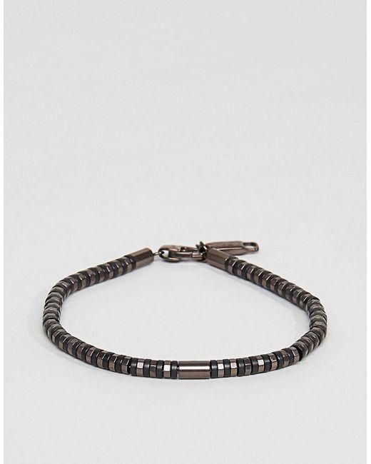 Emporio Armani | Slim Bracelet In Brown for Men | Lyst