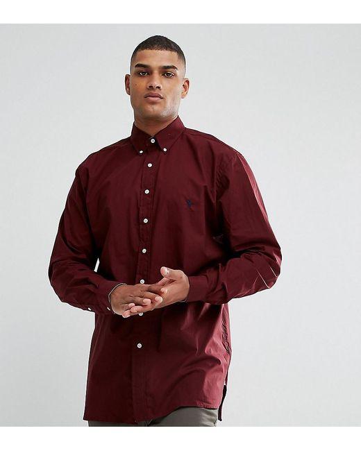 Polo Ralph Lauren   Red Tall Poplin Shirt In Burgundy for Men   Lyst