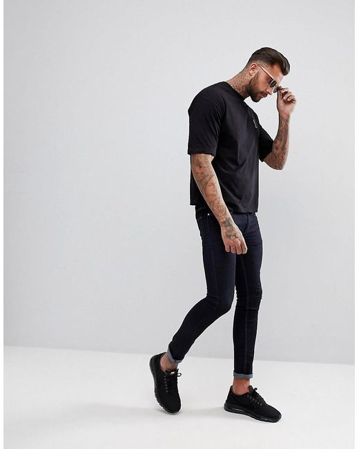 Free Shipping Boxy Fit T-Shirt With Dropped Shoulder In Black - Black Religion Outlet Lowest Price qbbpF7T2Y8