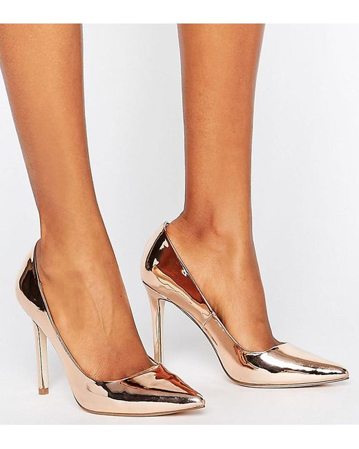ASOS - Metallic Peru Pointed High Heels - Lyst