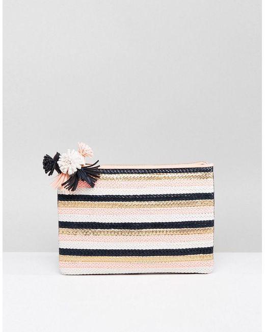 Miss Kg - Multicolor Hunt Pom Detail Clutch Bag - Lyst