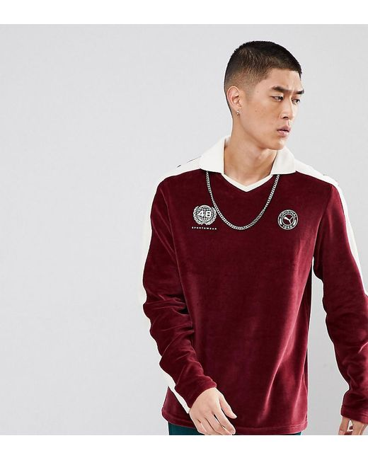 PUMA - Red Velvet Football Polo Shirt In Burgundy Exclusive To Asos for Men  - Lyst ... 4f4bc32eb