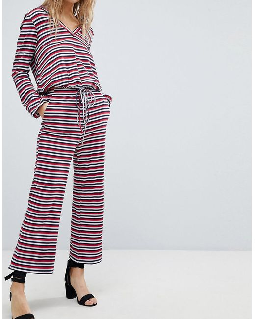 Relaxed Trousers In Stripe Co-Ord - Stripe Honey Punch VxrRQueSG