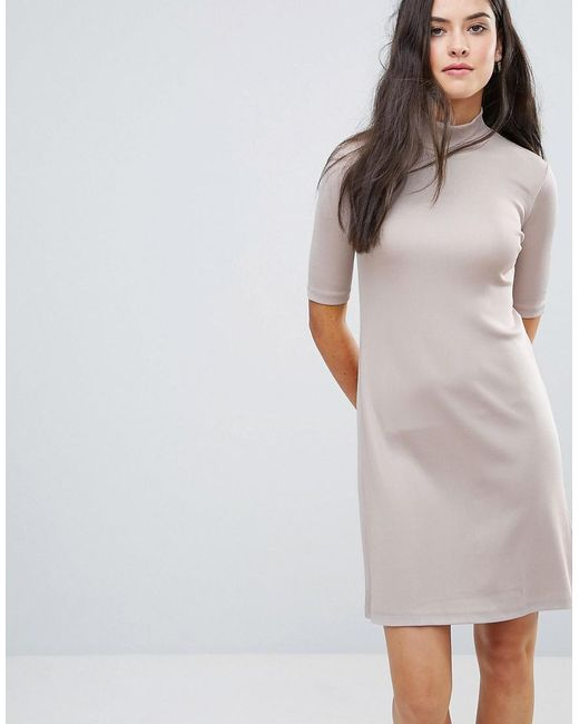 Y.A.S | Pink Sheila High Neck Glossy Dress | Lyst