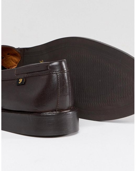 Farah Chapman Leather Tassel Loafers eTNX5MP