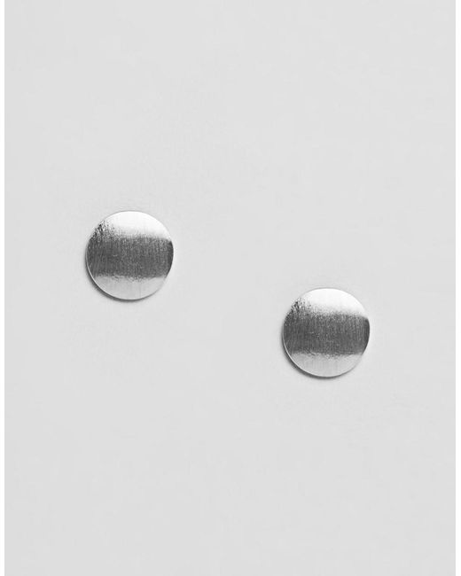 Pieces - Miebe Metallic Stud Earrings - Lyst