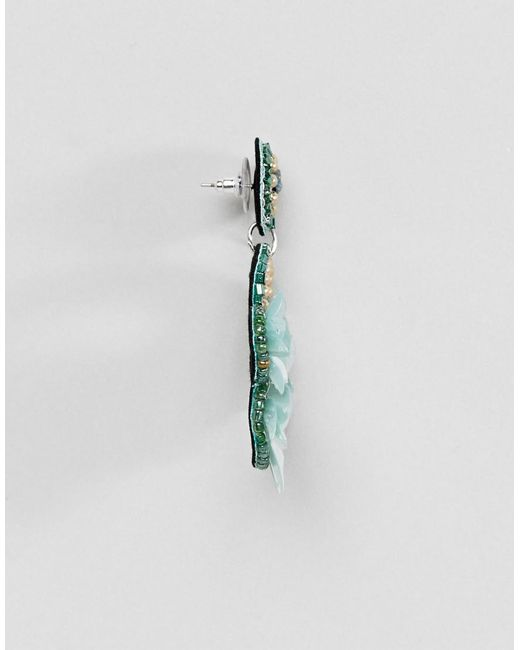 Joli Design Boucles D'oreilles En Perles Floraux Brodés - Multi-asos UzDDFikhZ