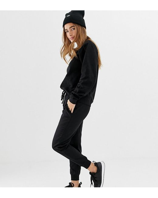 5e544c725975f7 ASOS - Black Asos Design Petite Ultimate Sweat And jogger With Tie Tracksuit  - Lyst ...