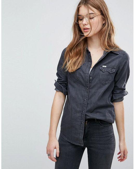 Lee Jeans - Black Lee Regular Fit Western Denim Shirt - Lyst