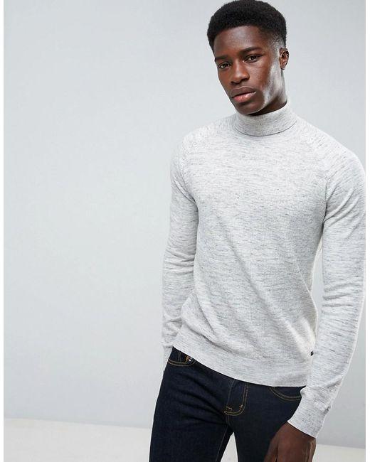 Threadbare - Gray Textured Knit Jumper for Men - Lyst