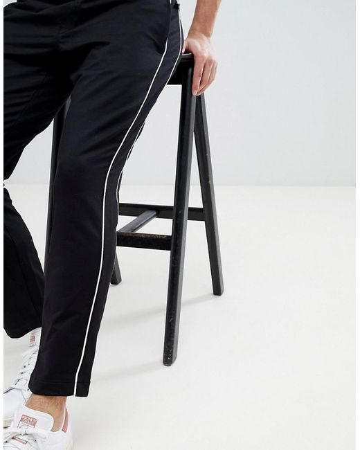 Man Side Stripe Trousers In Black - Black Mango tUQUldI