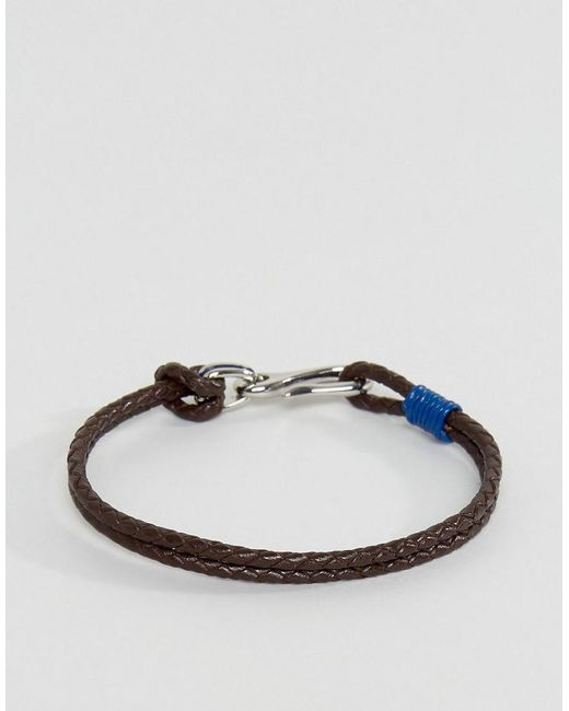 Ted Baker | Double Strand Leather Bracelet In Blue for Men | Lyst