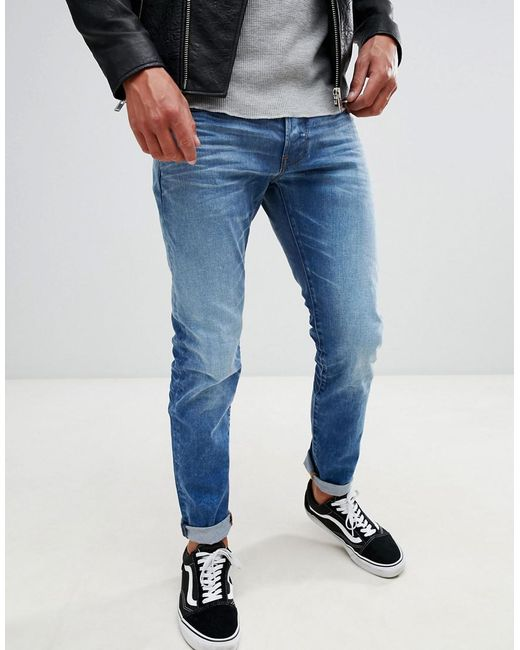 d00d3da326a G-Star RAW - Blue 3301 Slim Jeans Light Aged for Men - Lyst ...