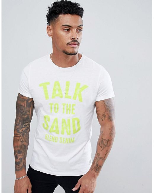 Blend - White Talk To The Sand T-shirt for Men - Lyst