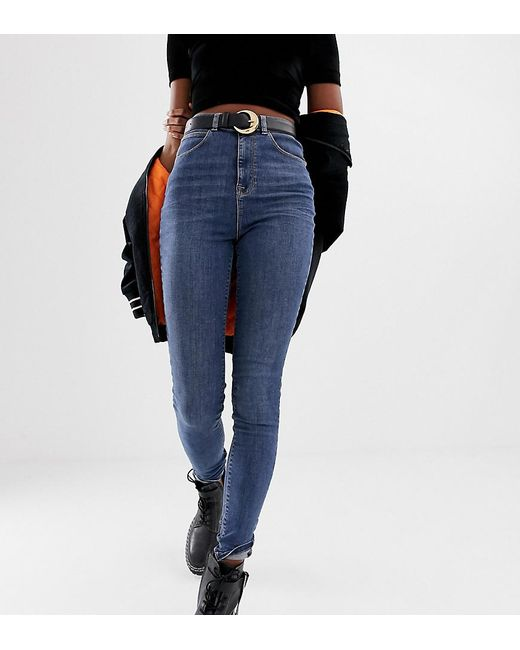94a4d8affb5 Collusion Tall X001 Skinny Jeans In Mid Wash Blue in Blue - Lyst