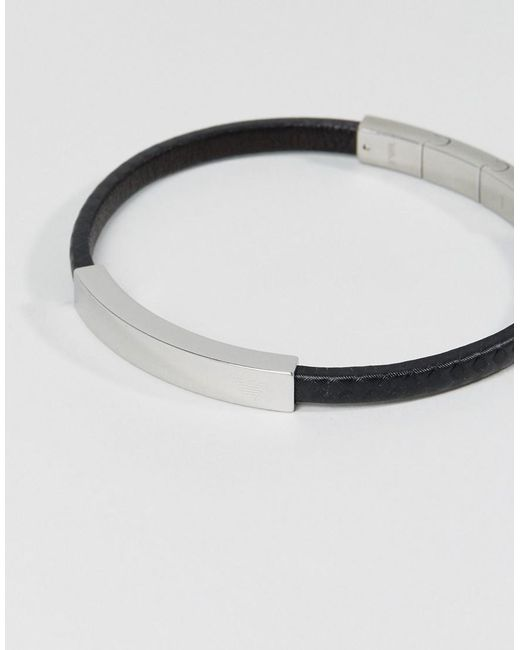 Emporio Armani | Black Eagle Bracelet for Men | Lyst