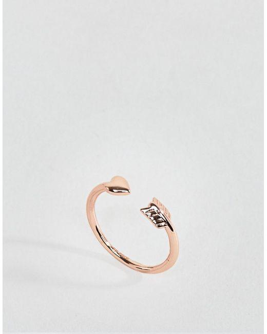 Ted Baker - Metallic Cupids Arrow Ring - Lyst