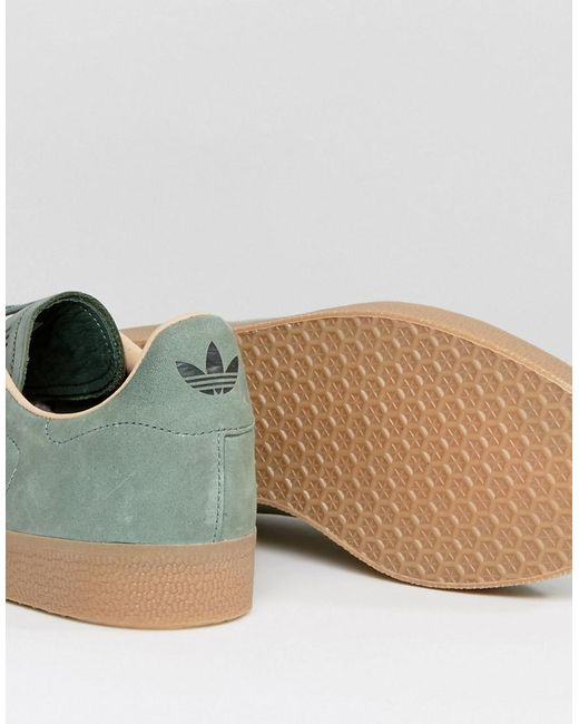 Adidas originali gazzella decontaminazione dei formatori in verde cg3705 in verde