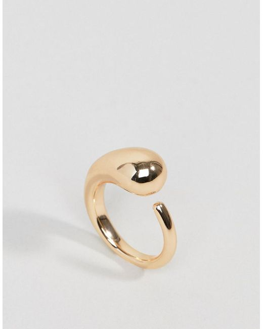 Weekday - Metallic Gold Ring - Lyst