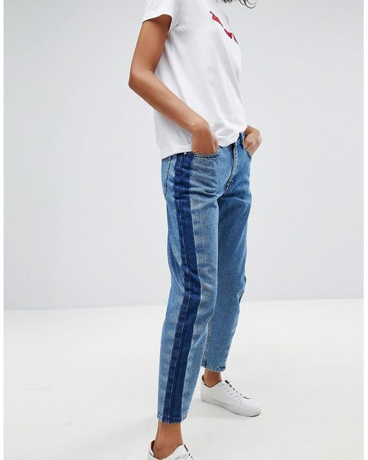 2nd Day - Blue Stripe Cropped Jeans - Lyst