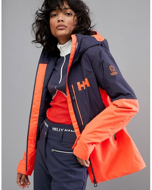 Helly Hansen - Multicolor Freedom Jacket In Navy/orange - Lyst