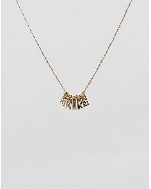 Nylon - Metallic Mini Fringe Necklace - Lyst