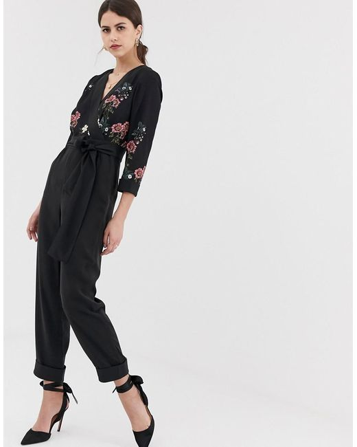15899cd9f52 Mono largo con vuelta Eleaann Oracle Ted Baker de color Negro - Lyst