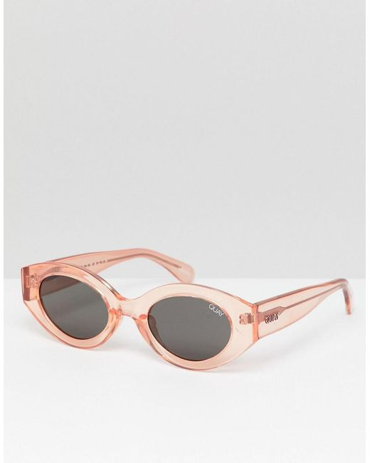 Quay - Pink See Me Smile Oval Sunglasses for Men - Lyst