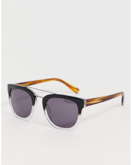 f0bd822173e French Connection - Multicolor Brow Bar Detail Retro Sunglasses - Lyst ...
