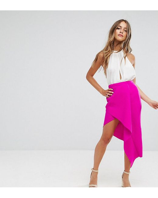 ASOS   Pink Origami Rib Pencil Skirt   Lyst