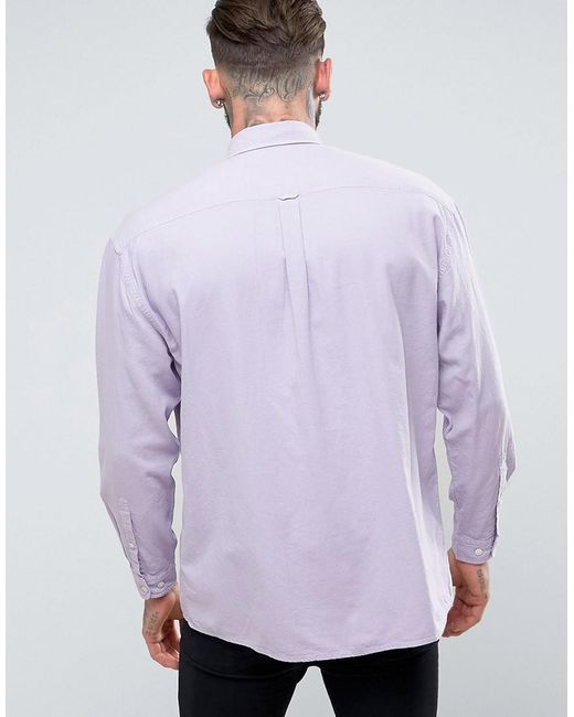 Oversized Oxford In Lilac - Lilac Asos Get Authentic Online Buy Cheap Finishline MO02Iq62
