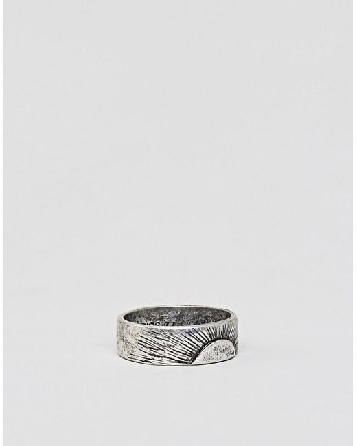 Classics 77 | Metallic Sunrise Band Ring In Silver for Men | Lyst