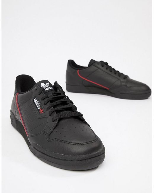 671b6fbb6377 ... Adidas Originals - Continental 80's Trainers In Black B41672 for Men -  Lyst