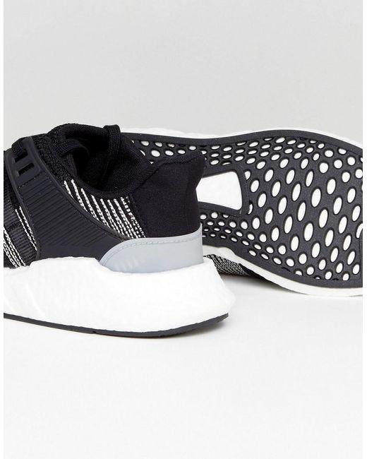 Adidas Originals EQT Support 93 / 17 zapatillas en color negro by9509 en negro