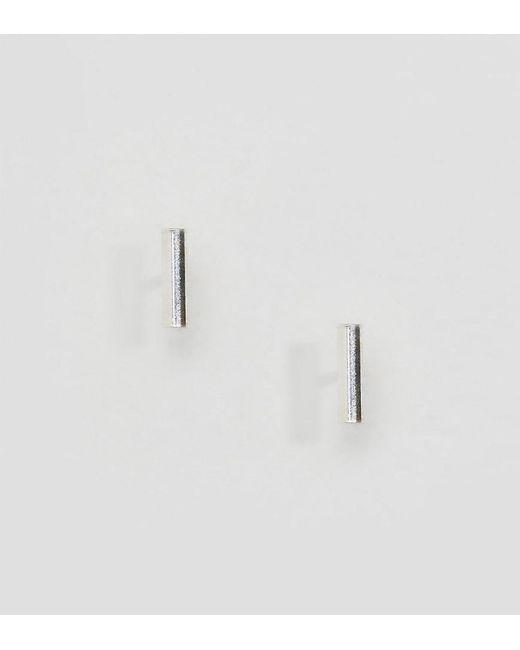 Kingsley Ryan - Metallic Sterling Silver Bar Ear Stud Earrings - Lyst