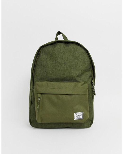 d15f3660a8b Herschel Supply Co. - Green Classic 24l Backpack In Crosshatch Khaki for Men  - Lyst ...