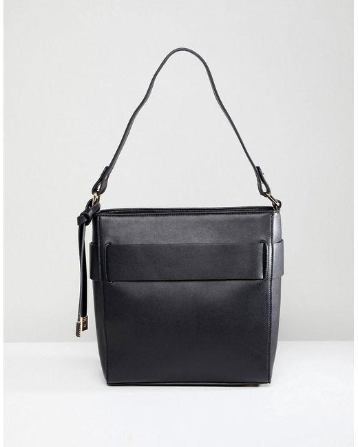 05f1da465cfa Park Lane - Black Minimal Shoulder Bag - Lyst ...