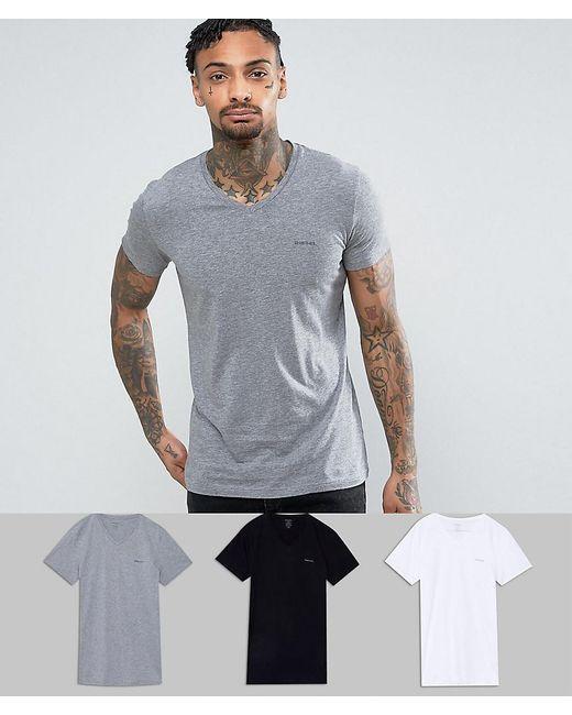 Lyst diesel v neck t shirt in 3 pack for men for Mens diesel v neck t shirts