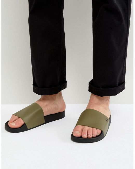 KG by Kurt Geiger - Green Kg By Kurt Geiger Slider Sandals for Men - Lyst