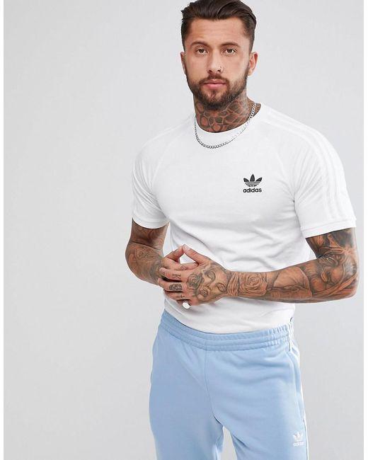 Adidas Originals - Adicolor California T-shirt In White Cw1203 for Men -  Lyst ...