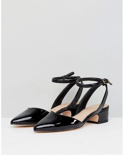 eb8bd61f181 Lyst - ALDO Zewiel Low Heel Pointed Shoe In Black in Black