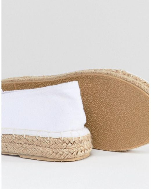 South Beach White Espadrilles With Toe Cap for cheap price very cheap for sale eeNPqqi5L