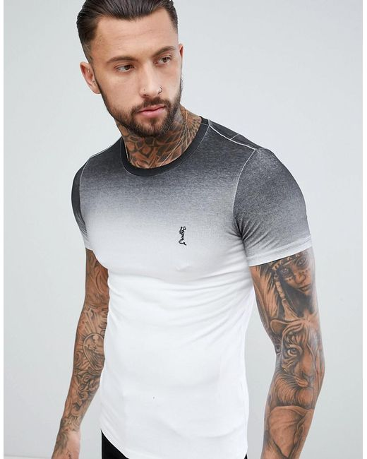 Religion - Muscle Fit T-shirt In Black Fade for Men - Lyst