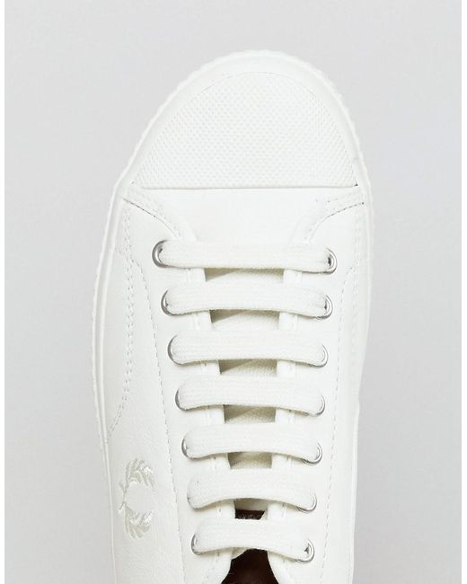 Hughes Leather Sneakers In Off White - Beige Fred Perry zqCGnFZYK