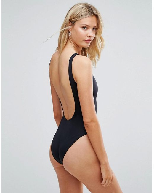 72c823f74564 ... ASOS - Blue Tall Scoop Front Swimsuit Multipack - Lyst