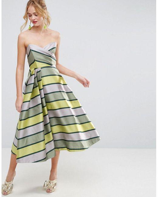 Striped Prom Dress